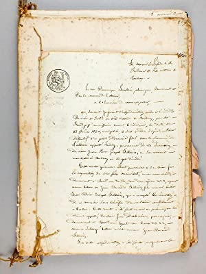 Important lot de documents notariés ( de 1809 à 1854 ) relatifs à l'...