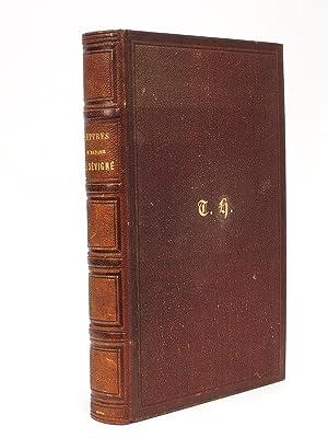 Lettres de Madame de Sévigné précédées d'une: SEVIGNE, Madame de