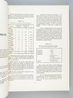 La maladie osseuse de Paget. Premier colloque de pathologie locomotrice. Montpellier 5 octobre 1974...