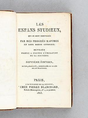 Les Enfans Studieux, Qui se sont distingués par des progrès rapides et leur bonne ...