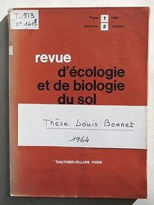 Revue d'Ecologie et de Biologie du Sol. I, 1964 : Le Peuplement thécamoébien des...