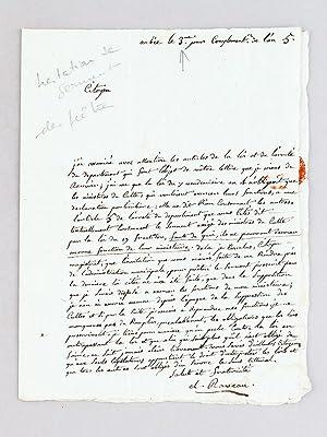 Lettre d'un Prêtre, datée du 3e jour complémentaire de l'an 5, ...