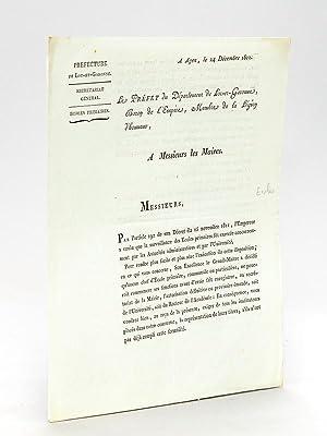 Agen le 24 décembre 1812. Le Préfet: VILLENEUVE, Préfet C.