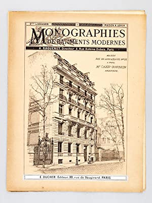 Monographies de Bâtiments Modernes. Maison rue du Luxembourg n° 32 à Paris. Mr. ...
