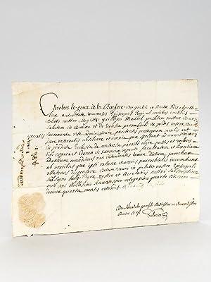 Pièce manuscrite datée du 14 octobre 1684, rédigée au nom de l'&...