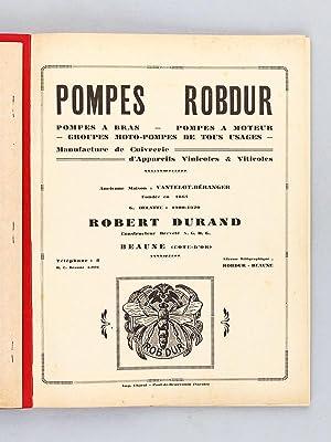 Pompes Robdur. Beaune [ Catalogue ] Pompes à bras - Pompes à Moteur - Groupes ...