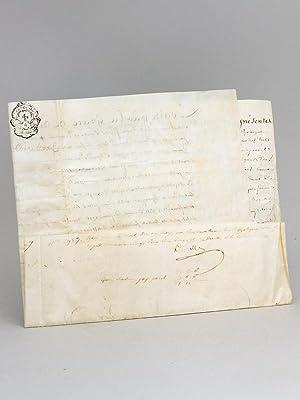 Lettre de Ratification sur vélin, Maison située: Généralité de La