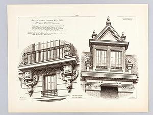Monographies de Bâtiments Modernes. Maison Avenue Trudaine n° 21 à Paris. Mr. ...