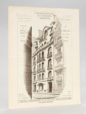 Monographies de Bâtiments Modernes. Maison rue Emile Menier n° 43 à Paris Mr. E. ...