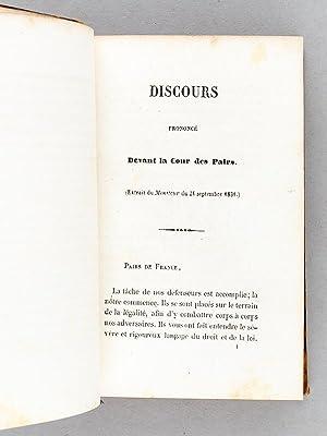 Défense de l'Ecole Libre devant la Cour des Pairs (Septembre 1831). Du devoir des ...