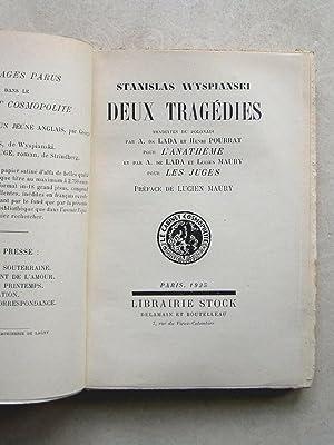 Deux Tragédies. L'Anathème. Les Juges.: WYSPIANSKI, Stanislas