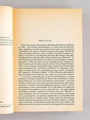 Historia y Antologia de la Literatura Boliviana.: ECHAZU, Edgar Avila
