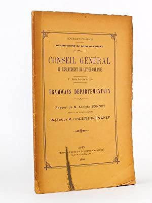 Lot de 2 Volumes sur les Tramways: Collectif ; Conseil