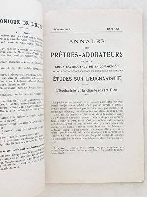 Annales des Prêtres-Adorateurs et de la Ligue Sacerdotale de la Communion [ Lot de 28 volumes...