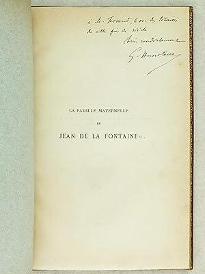 Note sur la famille maternelle de Jean de La Fontaine (les Pidoux du Poitou et de l'...