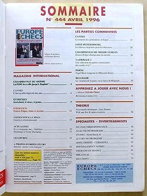Europe Echecs - Année 1996 [ 8 numéros - du n° 444 d'avril au n° 451 de ...