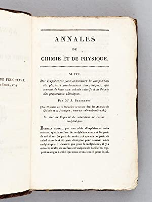 Annales de Chimie et de Physique. 1821 - Volume 2 : Tome Dix-Septième [ Tome 17 - Tome XVII ...