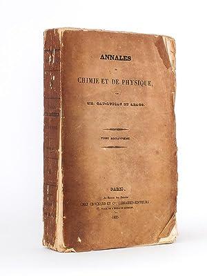 Annales de Chimie et de Physique. 1835 - Volume 3 : Tome Soixantième [ Tome 60 - Tome LX ] :...