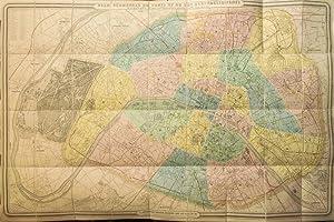 Plan géométral de Paris et de ses agrandissements à l'échelle d&#...