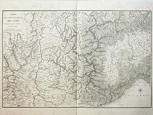 Carte de la Chaîne occidentale des Alpes: DE VAULT, Lieutenant