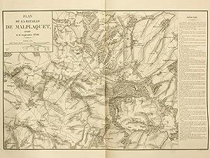 Plan de la Bataille de Malplaquet livrée: DE VAULT, Lieutenant