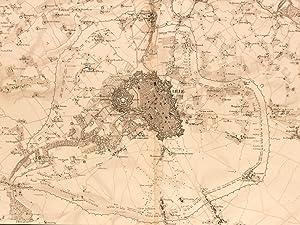 Plan Général du Siège de Lille en 1708 [ tiré de l'Atlas des M&...