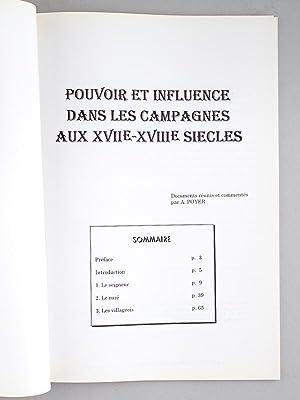 Pouvoir et Influence dans les Campagnes aux XVIIe-XVIIIe siècles (Dossier n° 25, ...