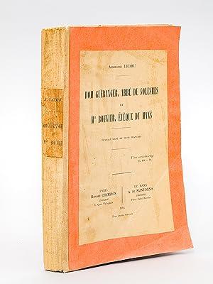 Dom Guéranger, abbé de Solesmes, et Mgr. Bouvier, Evêque du Mans.: LEDRU, ...