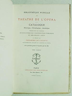 Bibliothèque Musicale du Théatre de l'Opéra. (7 Parties en 2 Tomes - ...