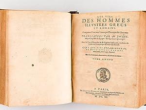 Les Vies des Hommes Illustres Grecs et Romains (2 Tomes - Complet) Comparées l'une avec...