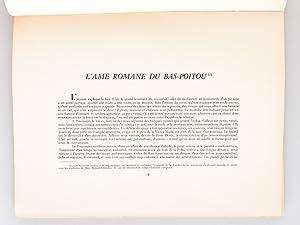 L'âme romane du Bas-Poitou. Deux-Sèvres. Vendée. [ Dédicacé ...