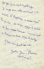 Lettre autographe signée à un ami.: CHAISSAC (Gaston)