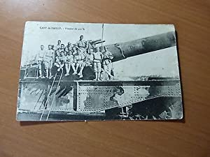 CPA-Camp de Mailly-Obusier de 400 mm sur wagon-Chemin de fer-Militaria