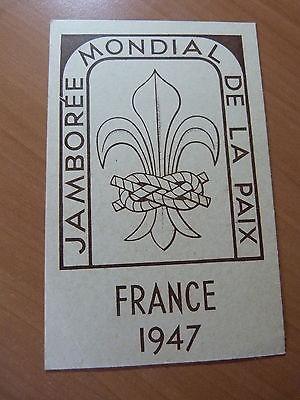 CPSM-Scout-Guides-Jamboree mondial de la paix France 1947
