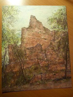 Illustration par Bernard Gantner-Alsace-Territoire de Belfort-Château-Une ruine