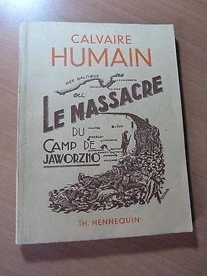 Guerre 39-45-WW II-Pologne-Calvaire humain ou le massacre