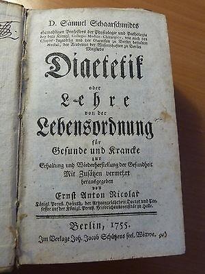 Schaarschmidt. Diatetetik oder lehre von der Lebenordnung-Diététique-1755