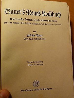 Gastronomie-Cuisine-Recettes-Bauer's Neues Kochbuch Süddeutsche Küche-1936