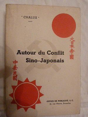 Chine-Japon-Autour du conflit Sino-Japonais-Chalux-1938