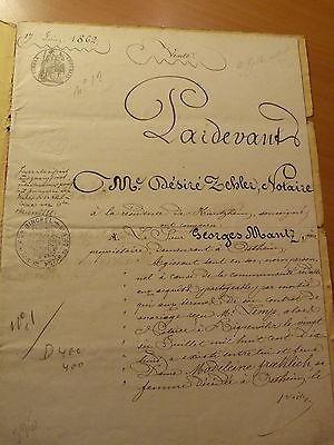 Colmar-Empire français-Alsace-Acte notarié de vente d'une maison à Ostheim-1862