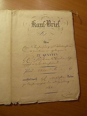 Louis-Philippe-Alsace-Acte notarié de vente d'une maison à Beblenheim-1846