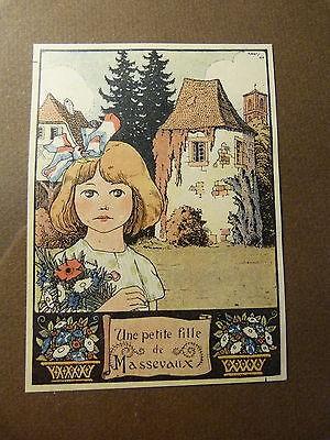 Alsace-Une petite fille de Masevaux-Hansi-Jean-Jacques Waltz-Colmar