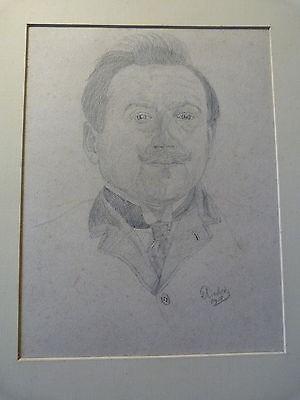 Portrait-Etude d'Auguste Dubois-Alsace-Dessin original-Gresswiller-Mutzig-1908