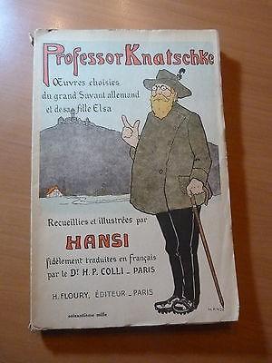 Alsace-Professor Knatschké par Hansi-Edition de 1931 (