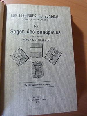 Higelin Maurice. Les légendes du Sundgau ( Etudes de Folklore )