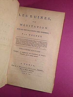 Les Ruines ou Méditations sur les révolutions des empires.: VOLNEY (Comte de).