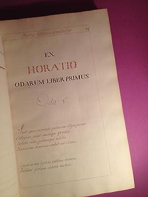 EXCERPTAE EX veteribus poetis latinis SENTENTIAE (Manuscrit du 18ème siècle)