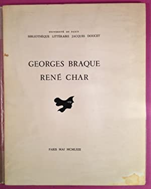 GEORGES BRAQUE, RENE CHAR ; MANUSCRITS, LIVRES, DOCUMENTS, ESTAMPES, édition illustrée de