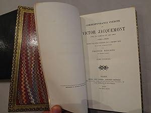 Correspondance inédite de Victor Jacquemont avec sa: JACQUEMONT (Victor). [Un