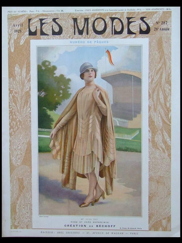 REVUE_LES_MODES_n°287__1928__BECHOFF_WORTH_MAGNIN_GIRAUD___Bon_Couverture_souple